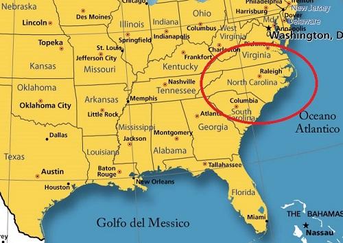 Cartina Usa Nord.Nord Carolina Viaggio Negli Stati Uniti Da Non Predere
