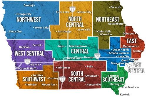 Mappa Iowa