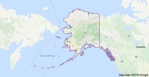 Cartina Alaska